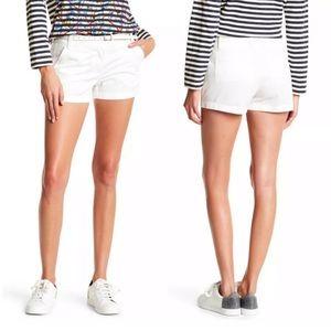 NWT J.Crew white chino shorts 00